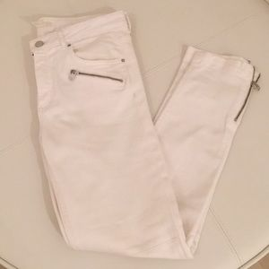 Women's white cotton pants